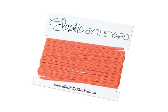 PUMPKIN Skinny Elastic for Baby Headbands 1/8 inch - 5 yards
