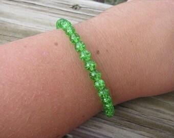 Layering Bracelet- Green Beaded Bracelet
