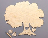 Custom 70 piece TREE Puzzle Wedding Guest Book Alternative by BELLA PUZZLES