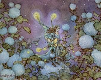Princess Snowflake Fairy 8.5x11 Signed Print with Original Sketch