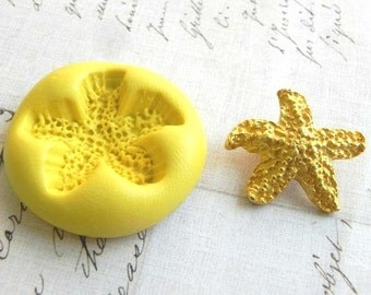 STARFISH - LARGE - Flexible Silicone Mold - Push Mold, Polymer Clay Mold, Pmc Mold, Resin Mold, Crafting Mold
