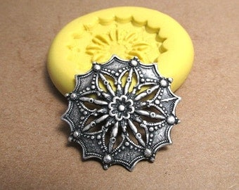 Victorian Filigree Star  - Flexible Silicone Mold - Push Mold, Jewelry Mold, Polymer Clay Mold, Resin Mold, Craft Mold, PMC Mold