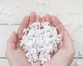 Miniature Plastic Doves - One Gross, 144 Pcs, Tiny White Bird Figurines