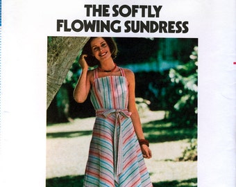 Butterick 4836 Vintage 70s Sewing Pattern for Misses' Wrap Sundress - Uncut - Size Small