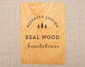 RESERVED for Libby - Real Wood Wedding Invitations