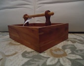Handmade Wood Tote Tool Box Cedar, Pine, and Oak
