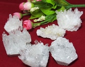 6 pcs minerals quartz white rock crystal cluster  quality gift for children