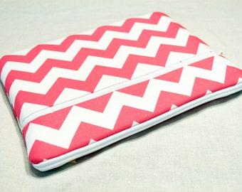 Fabric iPad Air 2 Cover, iPad 4 3 2 1, iPad mini 3 2, Kindle Fire HDX 8.9 7, Pro Surface 3 2 Cover, Galaxy 10.1 7, Nexus 10 7-Pink Chevron