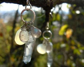 Morning frost earrings