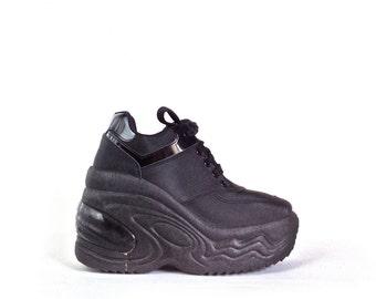 90's Steve Madden Platform Wedge Sneakers // 7-7.5