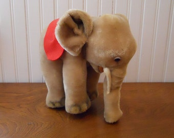 Vintage STEIFF Large Elephant Mohair Made in Germany