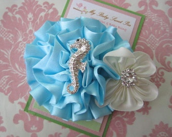 Summer hair clips - girl hair clips - seahorse hair clips - girl barrettes