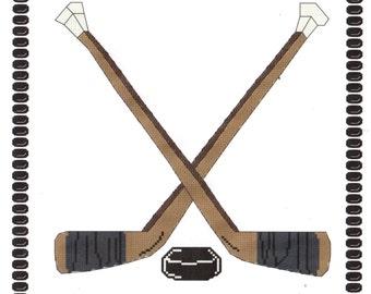 Hockey Sticks Cross Stitch Pattern