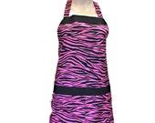 Pink Zebra apron