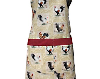 His or Her Chicken print apron