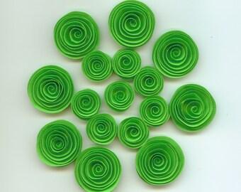 Limeade Mini Handmade Spiral Paper Flowers