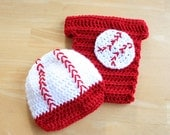 Baby Baseball Outfit, Newborn Baseball Outfit, Baby Boy Hat and Diaper Cover, Baseball Costume, Baseball Set for Baby, Newborn - 12 month