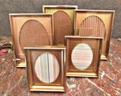 Metal Shadow Box Frames Set of 5