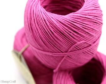 Hemp Cord, Pink 400ft Hemp Twine Ball, Colored Twine, Craft String