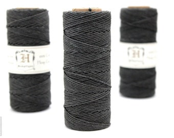 Grey Hemp Twine, Dark Gray, High Quality Hemp Craft Cord