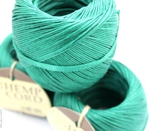 Green Hemp Cord,  400ft Hemp Twine Ball, Colored Twine, Craft String