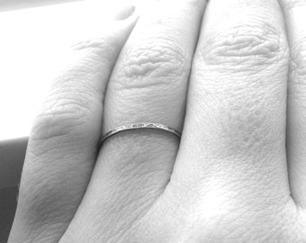 Stacking Ring, Sterling Silver Stacking Rings, Super Skinny Stacking Ring, Thin Ring Band, Oxidized Ring, Black Ring, Sterling Silver