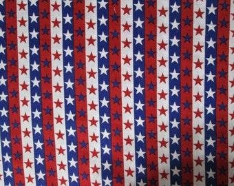 Patriotic Stars and Stripes Surgical Scrub Top / X Small - XX Large