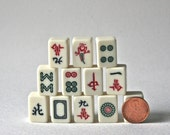 Small Mahjong Tiles for Altered Art Jewelry Making and Collage