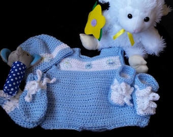 Crochet Baby Boy Layette Set
