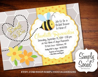 Honey Bee Bridal Shower Invitation Bride to Bee PRINTABLE