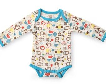 Mezoome Organic Baby Bodysuit  /  Baby wear  /  Baby clothes / baby sleeper