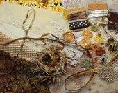 Golden Fields. Inspiration Kit And Embellishment Kit. Chocolate browns and yellows No 219