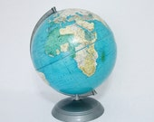 Vintage Retro Mid Century School Globe Weber Costello c1950 - TREASURY PICK