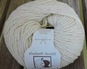 WORSTED or ARAN Weight Yarn - Ecru (001) Silk Wool - Elsebeth Lavold Silky Wool XL - 50g 104 yards