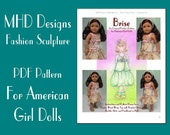 "PDF Download MHD Designs ""Brise"" Bubble Skirt and Top Fashion Pattern for American Girl Dolls"