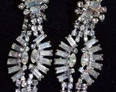 Stunning Vintage Rhinestone Earrings