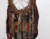 Dreamcatcher made from Vintage Clothing Boho Gypsy Shabby Chic Urban