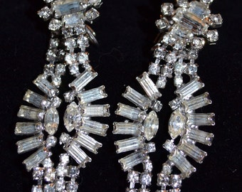 Rhinestone Earrings VINTAGE Stunning
