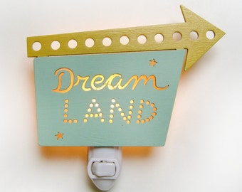 Dreamland Nightlight mini marquee sign