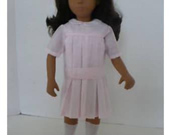 Sasha Doll Pink Pleated Dress Pattern