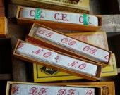 vintage french laundry labels letters linen kitchen cloth....