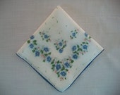 Vintage Blue and White Handkerchief