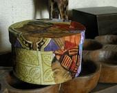 Kwanzaa Fabric Covered Small Round Box