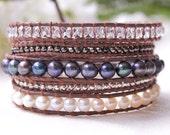 Beautiful Pearl Mix wrap bracelet