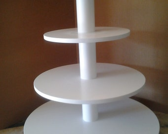 4 Tier Round (or Square) Custom Made Cupcake Stand with Ball Feet.