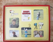 SALE-Snoopy Montage Photo Wall Frame, 1970s