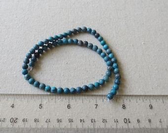 GB14 Genuine Gemstone Turquoise Jasper Round Beads 6mm 16 inch strand