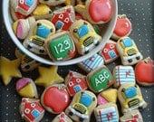 Back to school MINI cookies - teacher appreciation gift cookies - 2 dozen mini school cookies