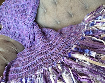 Blanket Home Decor Shabby Chic Purple Amethyst Decor Throw Blanket Knit Afghan