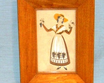 Rudolf Lesch Fine Arts Inc 513 Provincial Costume Framed Art Work